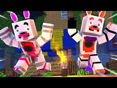Lolbit and Funtime Foxy Go Crazy in Murder Mystery (Minecraft Fnaf Roleplay Adventure)