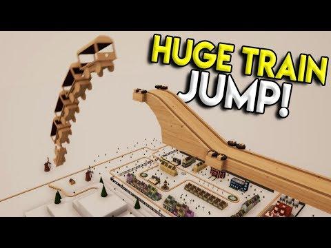 MASSIVE TRAIN DROP OVER TOWN! - Tracks- The Train Set Game Gameplay - Stunts & Crashes
