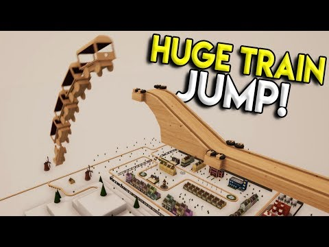 MASSIVE TRAIN DROP OVER TOWN! - Tracks- The Train Set Game Gameplay - Stunts & Crashes