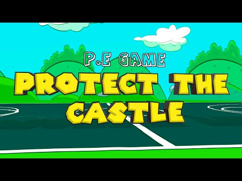 Play this THRILLING throwing & defence PE game with your students: 'Protect the Castle'
