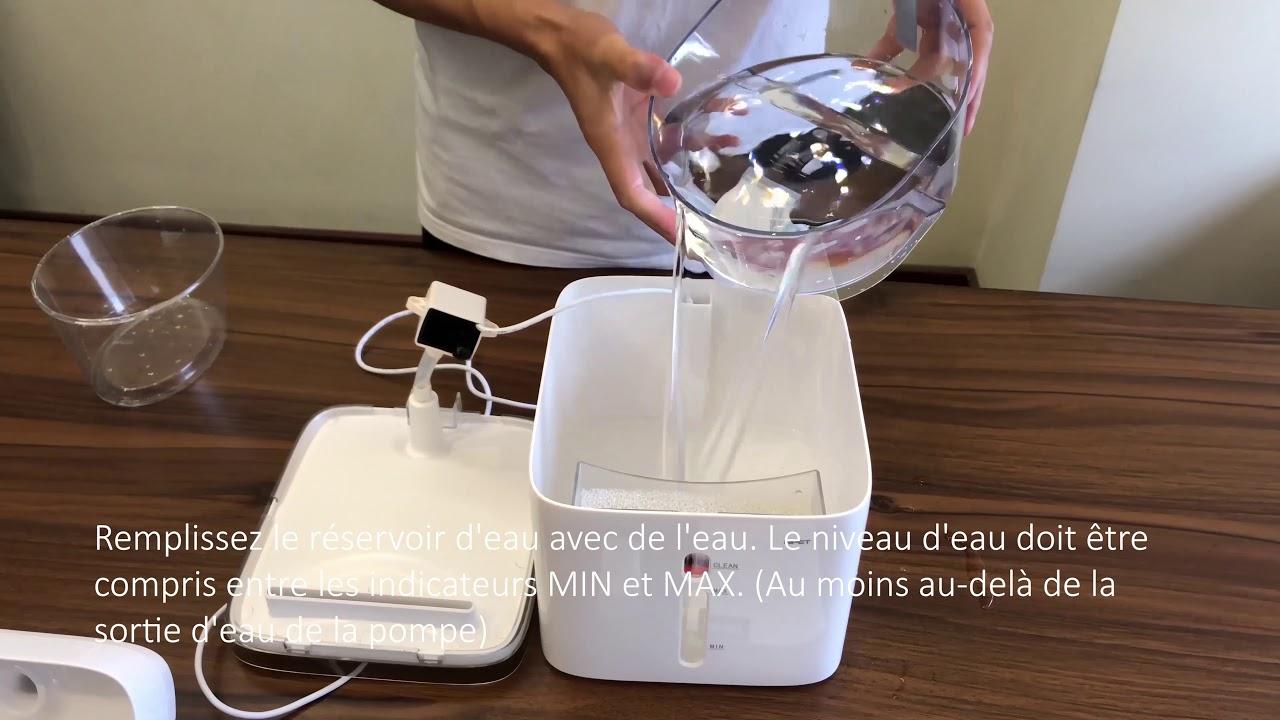 Consommation Fontaine À Eau comment installer npet fontaine d'eau pour chat et chien - wf020