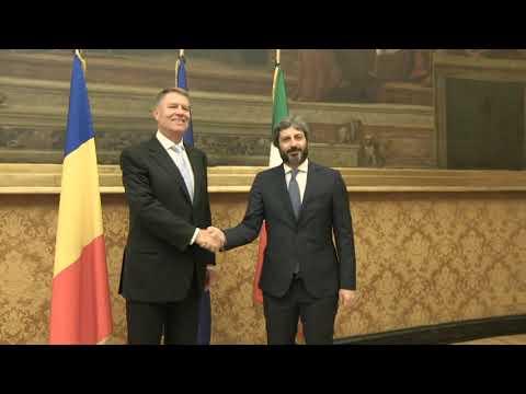 Fico incontra il Presidente della Repubblica di Romania Klaus Werner Iohannis - 16 ottobre 2018
