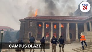 WATCH   UCT buildings destroyed, students evacuated as runaway veldfire rages on