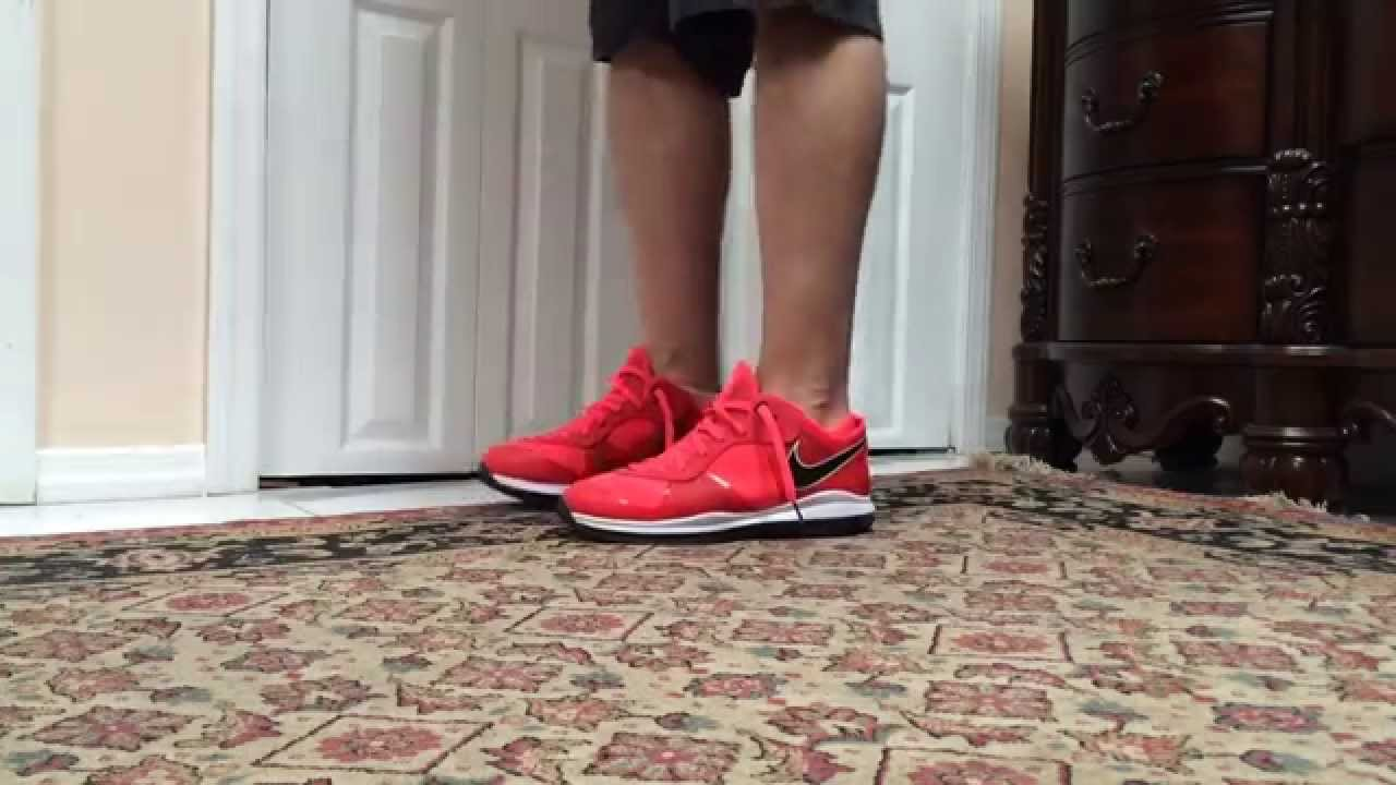 new style 27c9d 78347 Nike Lebron 8 Solar Red Low On Foot