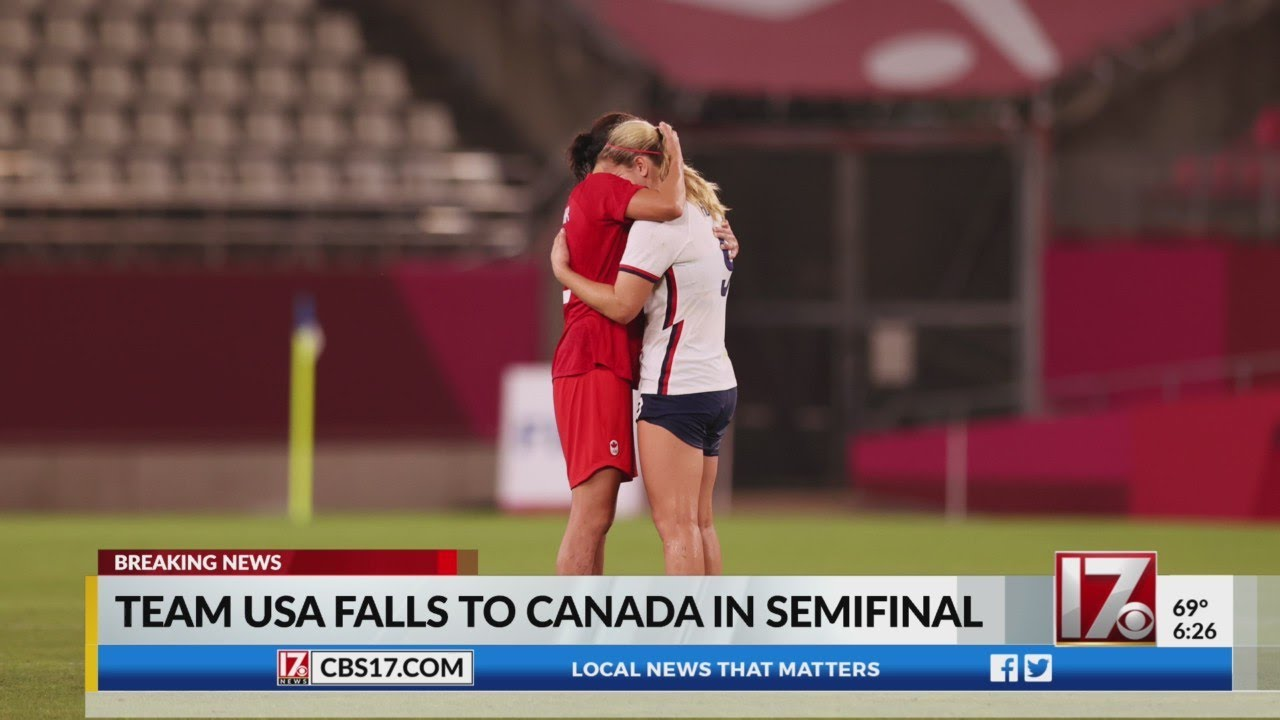 U.S. women's soccer team loses in Olympic semifinal 1-0 to Canada