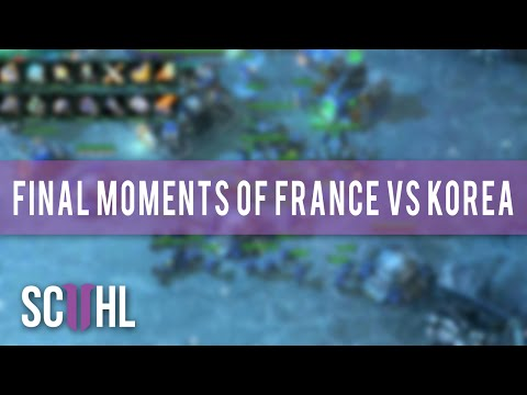 France beats South Korea in a StarCraft match