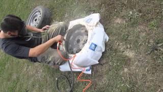 Пескоструим диски от ржавчины