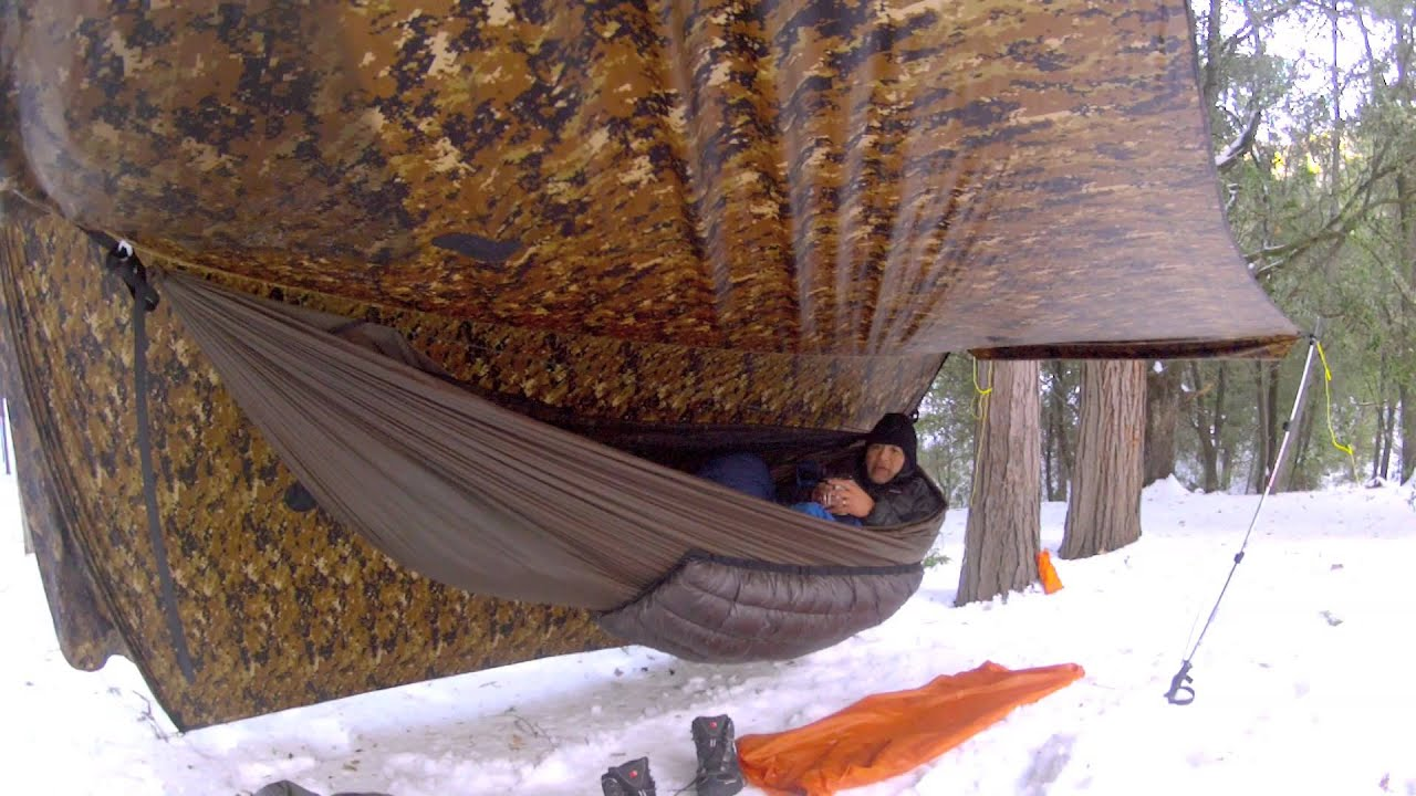 2013 snow hammock camping at mt palomar youtube