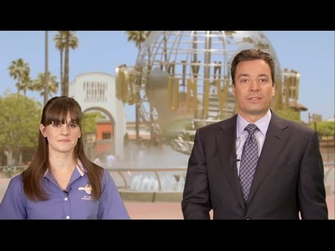 Universal Studios Hollywood - Jimmy Fallon and Molly Orr - World Famous Studio Tour