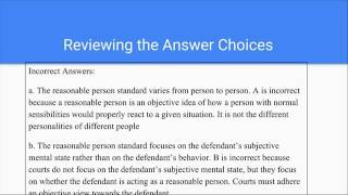 Business Law- Reasonable Person Test- Question 13