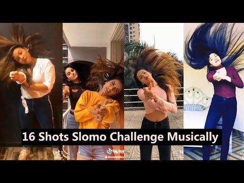 16 Shots Slomo Challenge Musically   Aashika, Mrunal, Bhavna, Awez Darbar, Unnati
