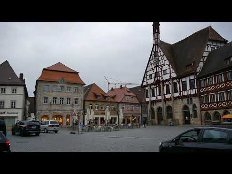 D: Forchheim. Bavaria. Sights and Sounds of the City Center. October 2017