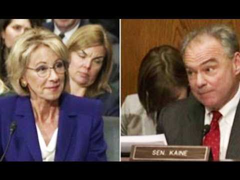 Tim Kaine Exposes Betsy DeVos's Charter School Scam