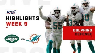 Dolphins Defense Came Up Big in Their 1st W | NFL 2019 Highlights