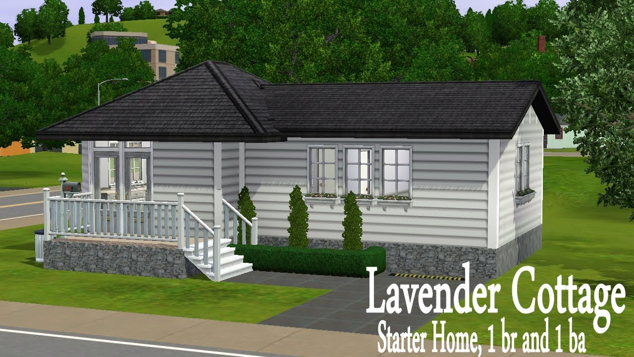 The sims 3 house building lavender cottage starter home for Small starter house plans