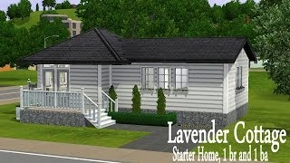 The Sims 3 House Building: Lavender Cottage (starter Home)