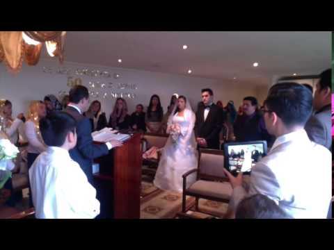 Enlace Matrimonial del obrero Martin Vargas Jr. y la hna. Nataly del Pilar Machuca