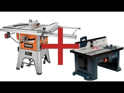 Ridgid R4512 Table Saw Folding Outfeed Table And 11 Mon