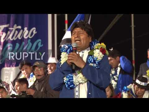 Bolivia: President Evo Morales Holds Final Campaign Rally Ahead Of Election