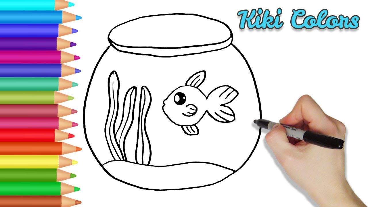 How to Draw Fish Aquarium Part 1 | Teach Drawing for Kids and ...