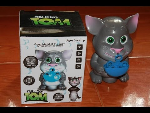Talking Tom Blowing Bubbles Kids Toys Youtube