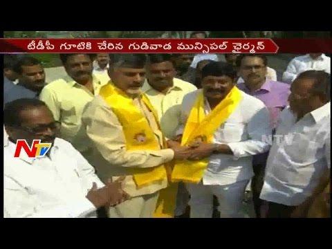 YSRCP : Gudivada Municipal Chairman Jumps into TDP Party || Krishna District || NTV
