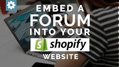 Embed a Forum into your Shopify website