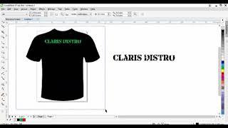 Cara Design tulisan menggunakan Corel Draw (subtitle)