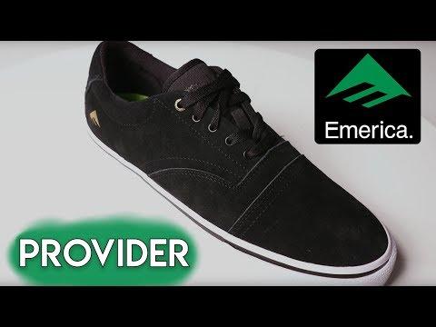 Emerica Provider Skate Shoes - YouTube