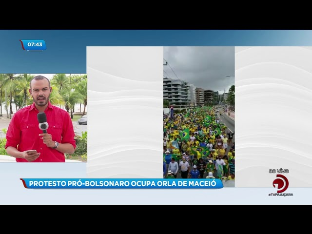 Protesto pró-Bolsonaro ocupou a orla de Maceió