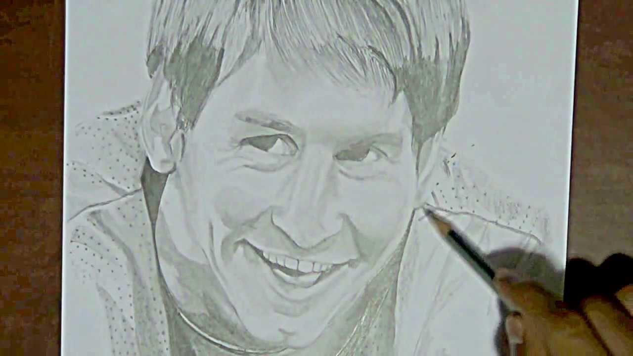 Dibujando a Leo Messi carbon  YouTube