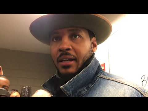 PG, Carmelo Anthony & Corey Brewer Postgame Interview / Thunder vs Hawks