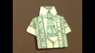 Hướng dẫn gấp áo sơ mi bằng tiền giấy