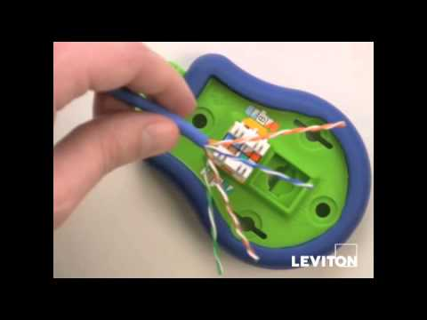 How to Terminate a Leviton Quickport Connector YouTube – Leviton Rj45 Jack Wire Diagram