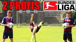 FUSSBALL CHALLENGE VS. U19 Bundesliga & Freestyle Profi | ViscaBarca