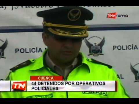44 detenidos por operativos policiales