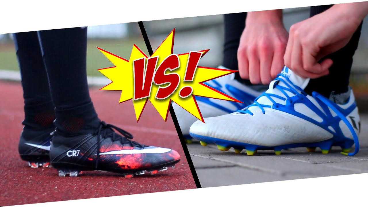 CR7 VS Messi - Nike Mercurial Superfly CR7 vs. Adidas Messi 15.1 - Test by  Germankickerz - YouTube