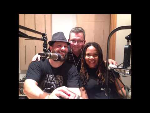 Mark Mohr and Avion Blackman at XFM radio Lithuania (Christafari tour in Lithuania)