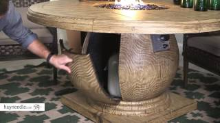 Belham Living Leland Fire Patio Dining Table Product Review Video Youtube