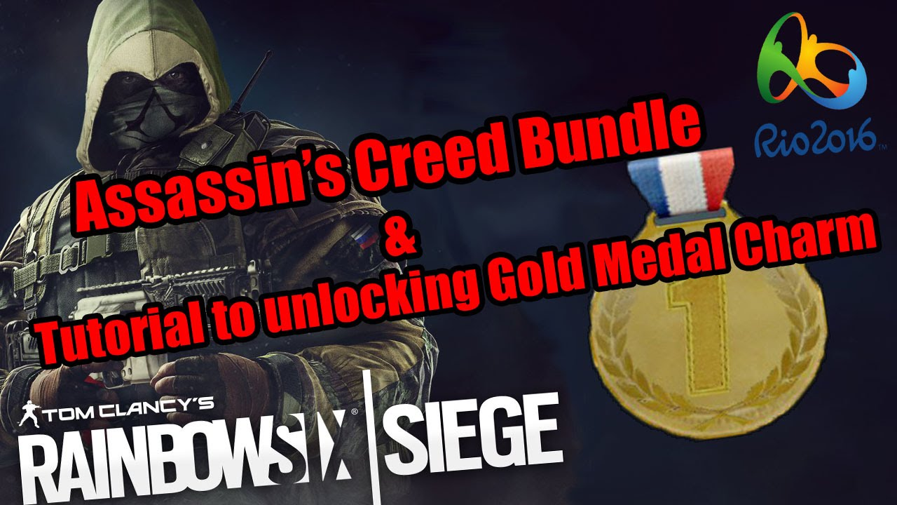 Assassin's Creed Bundle & Tutorial to unlocking Gold Medal Charm - Rainbow  Six Siege by Hyenaah
