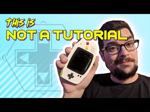 This is Not a Tutorial - Modding a Gameboy Advance