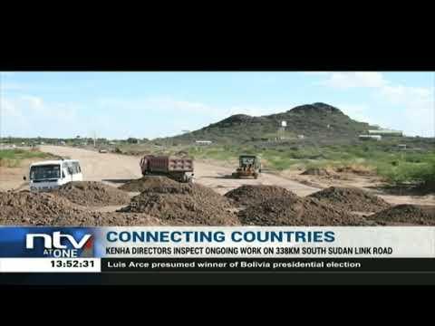 KENHA inspects construction of 338KM South Sudan link road in Turkana