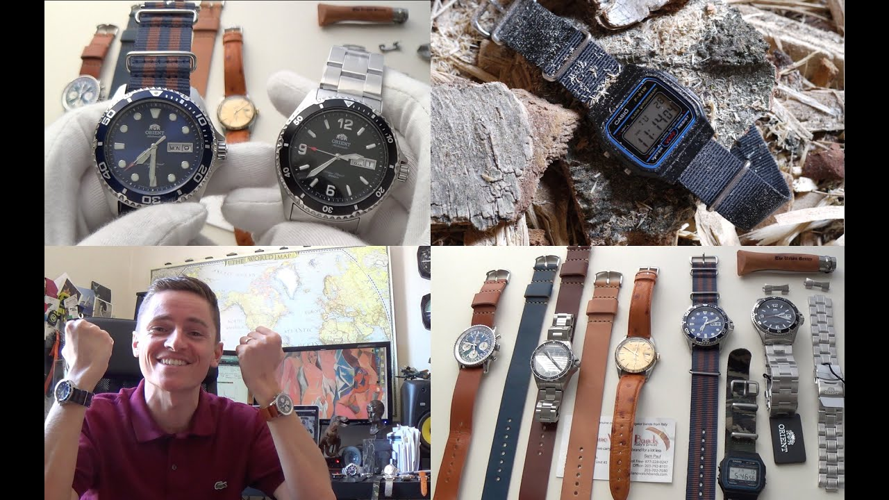 Orient Blue Ray II & Mako II Review, New Leather Straps ...