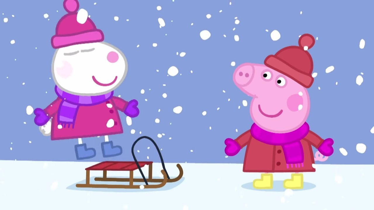 Peppa Pig Français Hiver Peppa Noël Dessin Animé видео с
