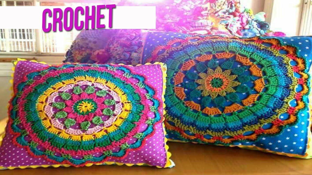 Cojin tejido a crochet almohadon youtube - Cojin de crochet ...