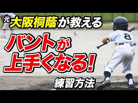 【少年野球】バントが上手くなる練習法 コツを知ればバントが楽しくなる!