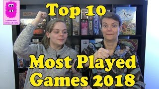 Top 10 Most Played Games in 2018 (In English, Board Games)