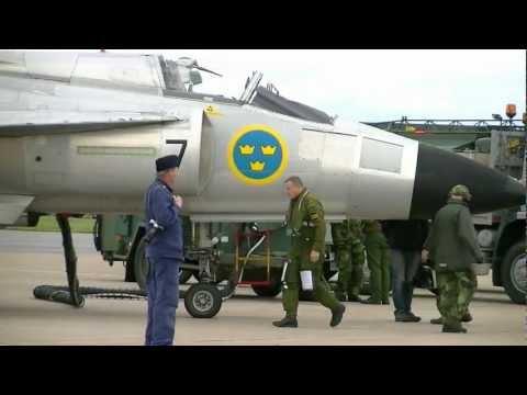 Swedish Air Force Historic Flight AJS 37 Viggen Fighter 1080p