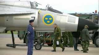 Swedish Air Force Historic Flight AJS 37 Viggen Fighter 1080p