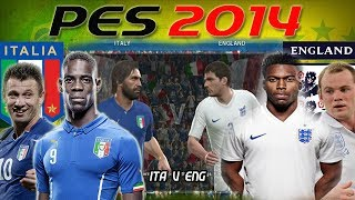 PES 2014: World cup simulation Italy V England [Online Match] Full HD.